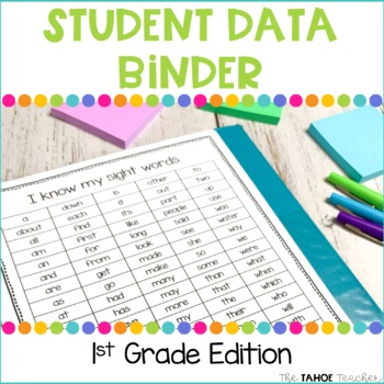 1st Grade Student Data Binder for Reading and Math by Sweet Sweet ...