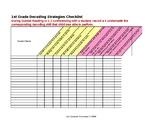 1st Grade Decoding Skills Assessment