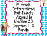 1st Grade Differentiated Exit Tickets Aligned to Envision