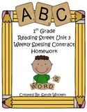 Reading Street 2008 1st Grade Differentiated Spelling Homework Unit 3 (L.1.2.d)