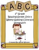 Reading Street 2008 1st Grade Differentiated Spelling Homework Unit 4 (L.1.2.d)