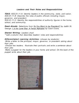 1st Grade Differentiated Social Studies Lesson Plan