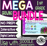 1st Grade Digital Math Activities MEGA BUNDLE for Google S