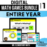 1st Grade Digital Math Games Bundle | Distance Learning |