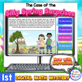 1st Grade Digital Math Mystery Silly Spring Surprises for