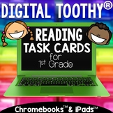 1st Grade Digital Reading Toothy ® Task Cards Bundle | Dis