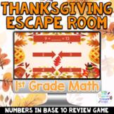 1st Grade Digital Thanksgiving Math Escape Room Game   Bas