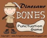 1st Grade Dinosaur Bones Punctuation Game