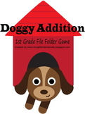 1st Grade Doggy Addition File Folder Game