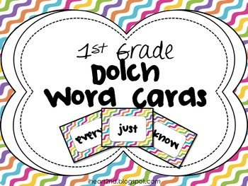 1st Grade Dolch Word Cards
