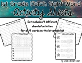 First Grade Dolch Sight Word Activities