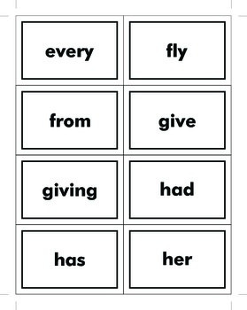 1st Grade Dolch Sight Word Cards