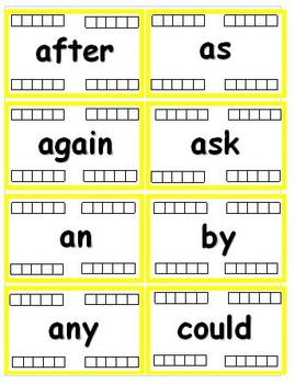 1st Grade Dolch Sight Word Flash Cards with Data Tracking Options - RF.K.3