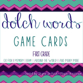 1st Grade Dolch Sight Word Game Cards