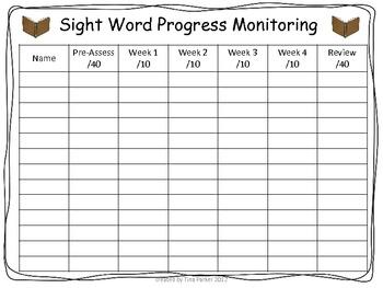 1st Grade Dolch Sight Word Program