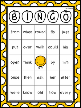 1st Grade Dolch Sight Word Resource Pack