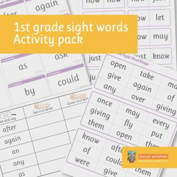1st Grade Dolch Sight Words Activity Pack