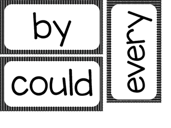 1st Grade Sight Words ~ Black and White Polka Dot