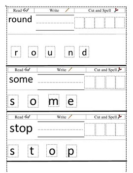 1st Grade Dolch Sight Words Bracelets/Interactive Notebook