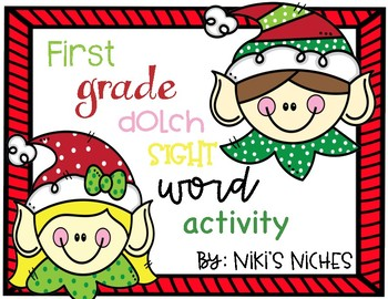 1st Grade Dolch Sight Words: Christmas Make it, build it, write it