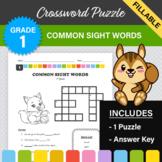 Common Sight Words Crossword Puzzle #1 (1st Grade) - Digit