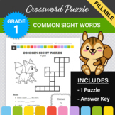 Common Sight Words Crossword Puzzle #2 (1st Grade) - Digit