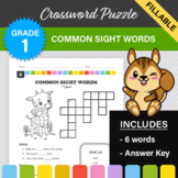 1st Grade - Dolch Sight Words Crossword Puzzle #6