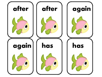 "1st Grade Dolch Sight Words ""Go Fish"" Game"
