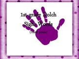 1st Grade Dolch Sight Words Hand Prints