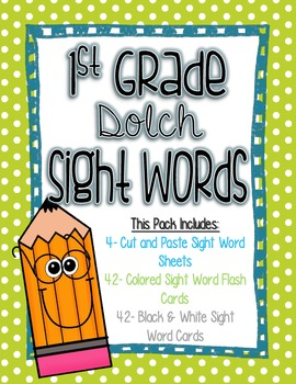 1st Grade Dolch Sight Words Pack