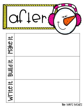 1st Grade Dolch Sight Words: WINTER Make it, build it, write it