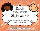 1st Grade Dolch Sight Words and Student Certificates