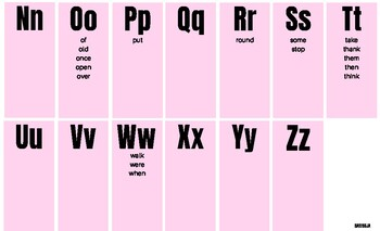 1st Grade Dolch Spelling Chart