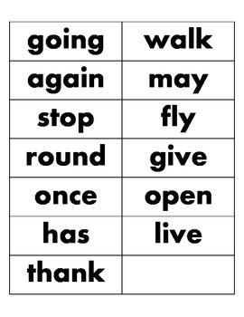 1st Grade Dolch Word Cards by Frequency