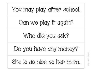1st Grade Dolch Word List, Cards, Phrases, and Sentences