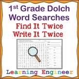 1st Grade Dolch Words: Sight Word Searches