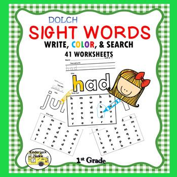 1st Grade Dolch Word list