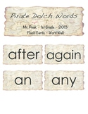 1st Grade Dolch Words Flashcards or Word Wall (Pirate Theme)