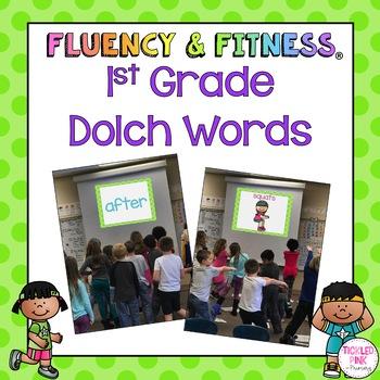 1st Grade Dolch Words Fluency & Fitness Brain Breaks Bundle
