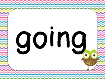 1st Grade Dolch Words - Owl Theme