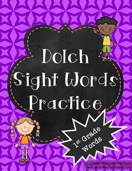 1st Grade Dolch Words Practice