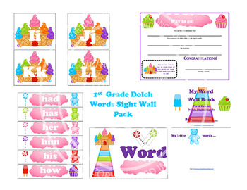 1st Grade Dolch Words Sight Wall Pack
