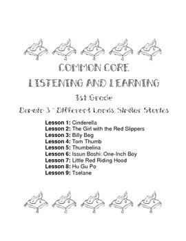 1st Grade Domain 3 Common Core Listening and Learning Module Student Activities