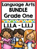 First Grade Language Arts Worksheets Bundle - Distance Learning