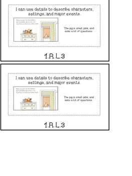 1st Grade ELA Common Core Standards Flipbook: RL