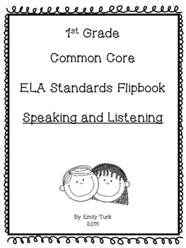 1st Grade ELA Common Core Standards Flipbook: SL