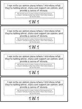1st Grade ELA Common Core Standards Flipbook: W