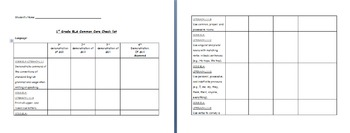 1st Grade ELA Common Core: Student Data Tracking Binder (All Standards)