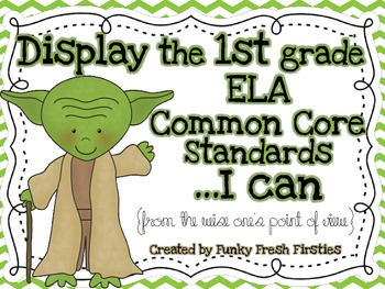 1st Grade ELA Galaxy Common Core Standards Posters