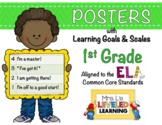 1st Grade ELA Posters with Marzano Scales - EDITABLE
